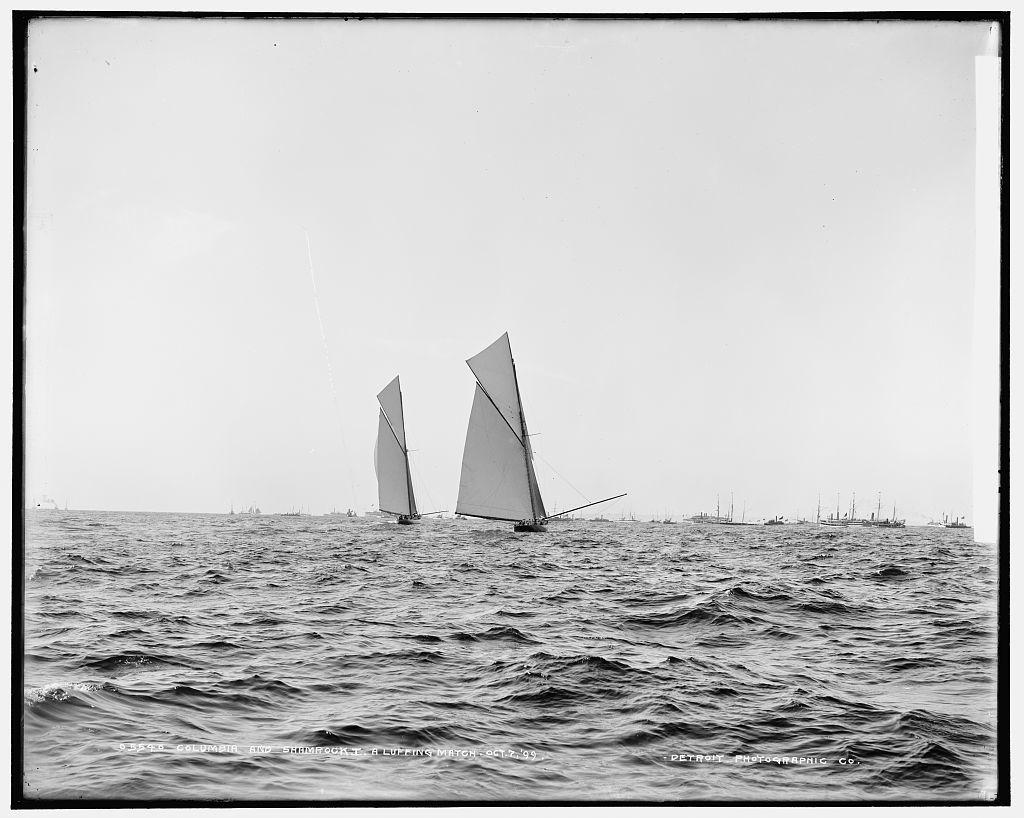 Columbia and Shamrock I, a luffing match