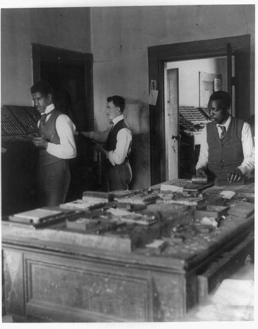[Composing room of the Planet newspaper, Richmond, Virginia]