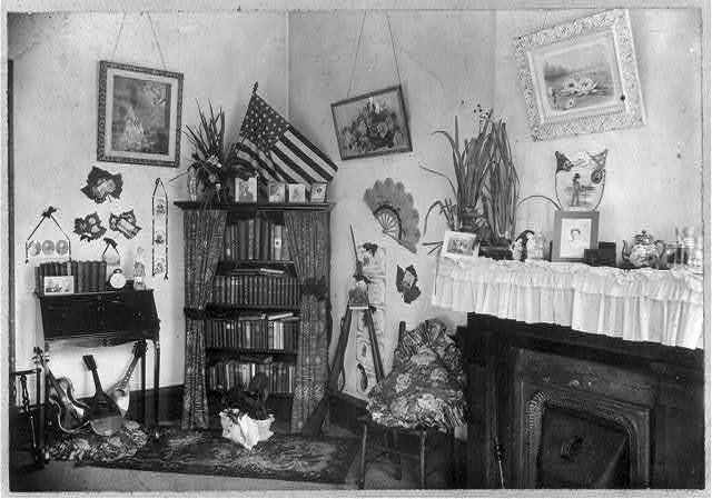 [Corner in the home of African American teachers, New Orleans, Louisiana]