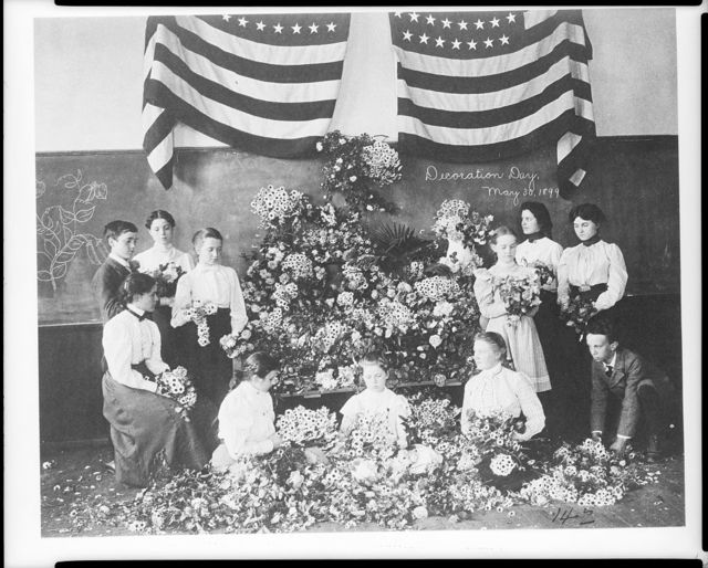 [Daisies gathered for Decoration Day, May 30, 1899]
