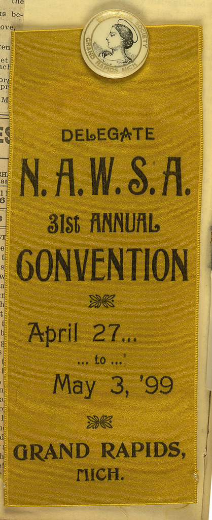 Delegate National American Woman Suffrage Association 31st Annual Convention