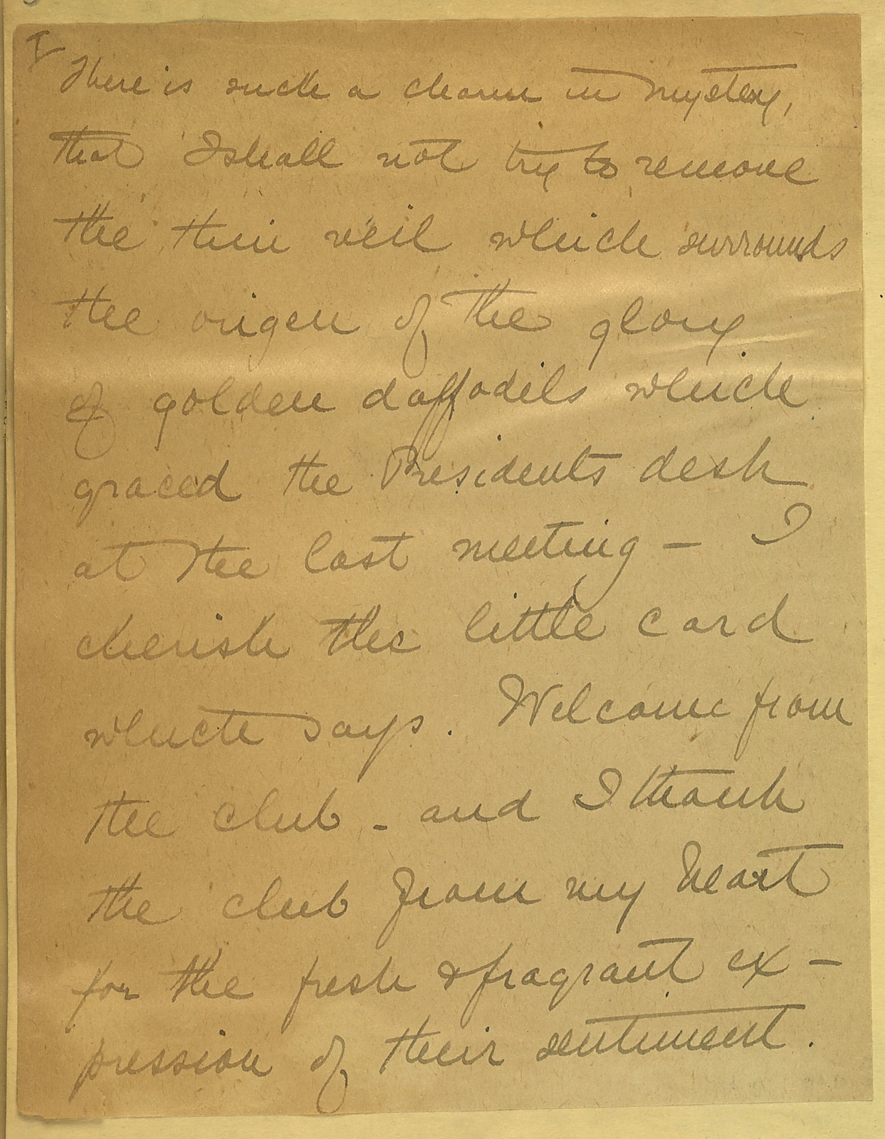 Draft thank you from Anne Fitzhugh Miller to Geneva Political Equality Club