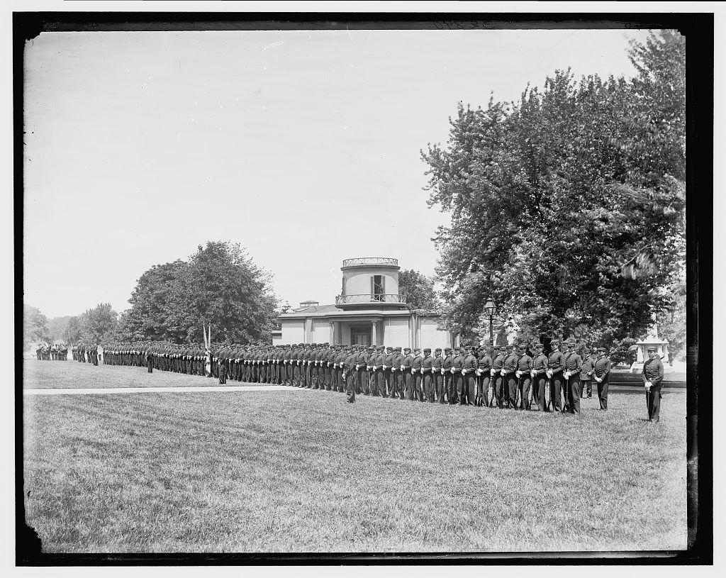 [Dress parade, U.S. Naval Academy]