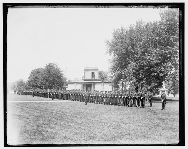 [Dress parade, U.S. Naval Academy]