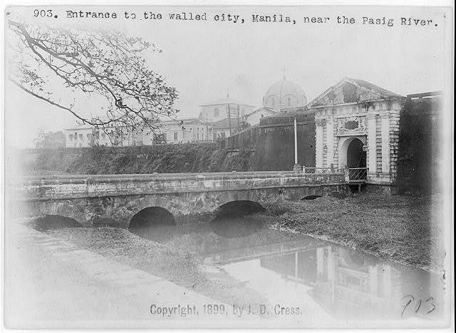Entrance to the walled city, Manila, near the Pasig River