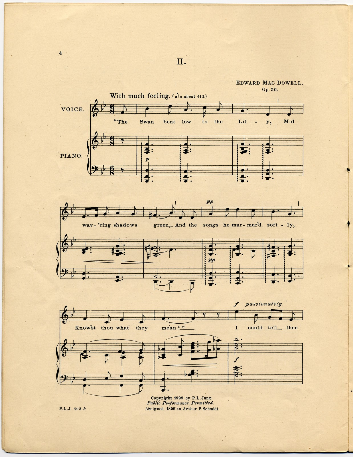 Four songs Op. 56