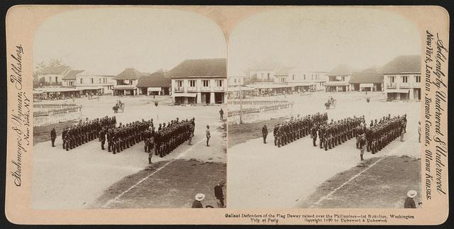 Gallant defenders of the flag Dewey raised over the Philippines - 1st Battalion, Washington Vols. at Pasig / Strohmeyer & Wyman, publishers, New York, N.Y.