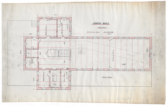[Government Hospital for the Insane (Saint Elizabeths Hospital), Washington, D.C. Atkins Hall (Building no. 31) alterations. First floor plan]