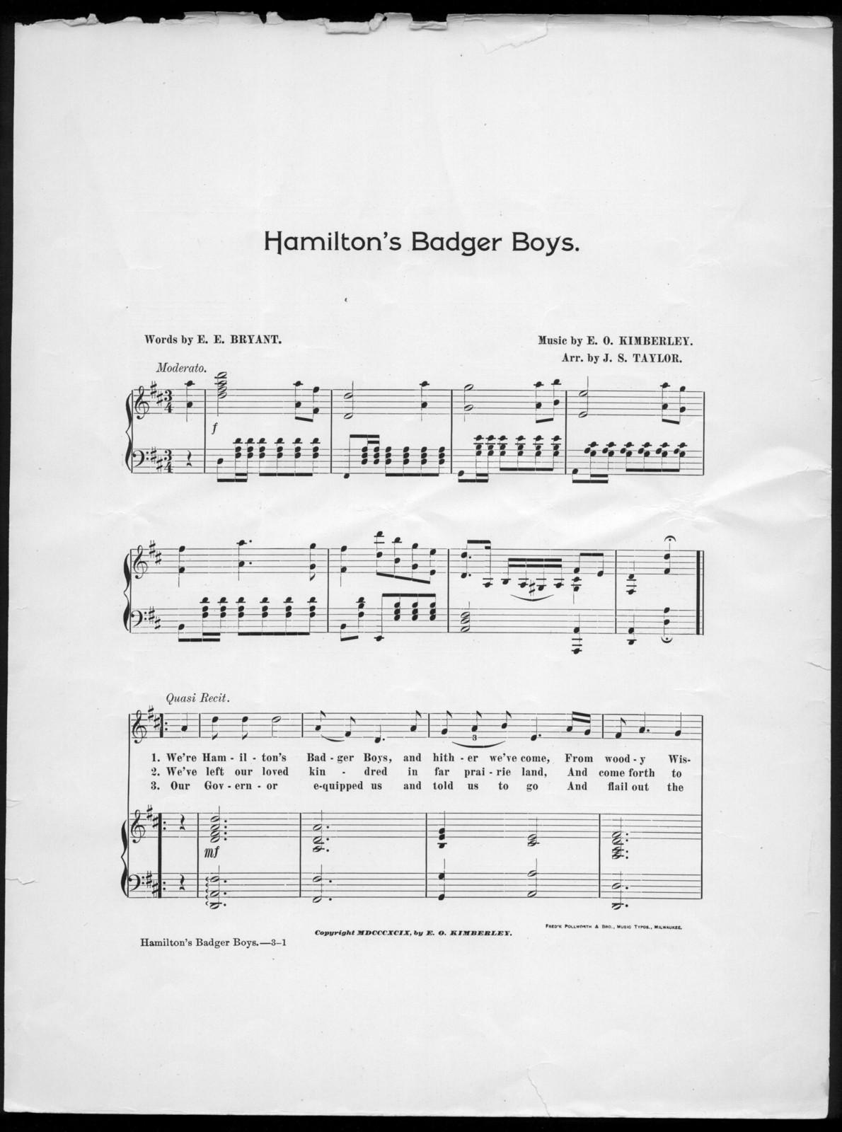 Hamilton's badger boys
