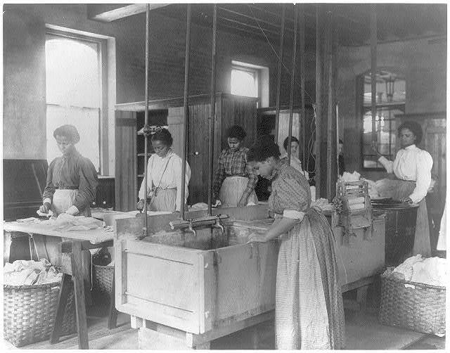[Hampton Institute, Va., 1899 - Classroom scenes - laundry shop]