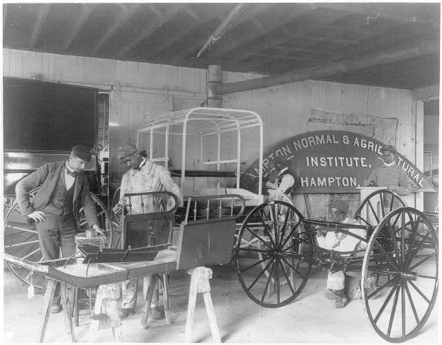 [Hampton Institute, Va., 1899 - Classroom scenes - painting carriages]