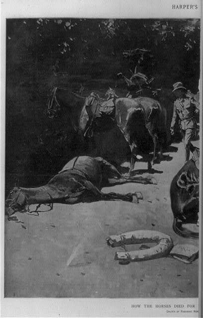How the horses died for their country at Santiago / Frederic Remington.