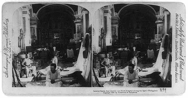Interior Santa Ana Church - our field hospital during the fight, Philippines
