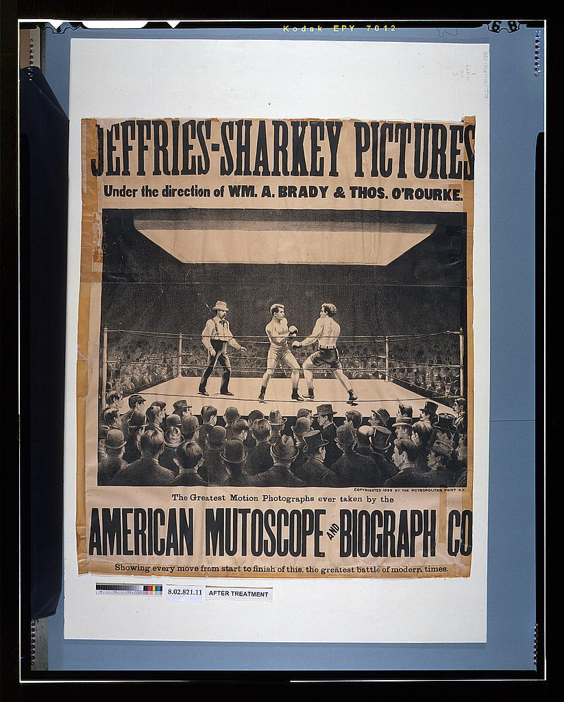 Jeffries-Sharkey pictures - under the direction of Wm. A. Brady & Thos. O'Rourke