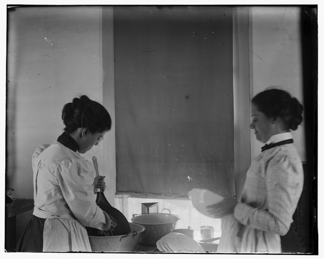 [Katharine Wright and Harriet Silliman, busy in the kitchen]