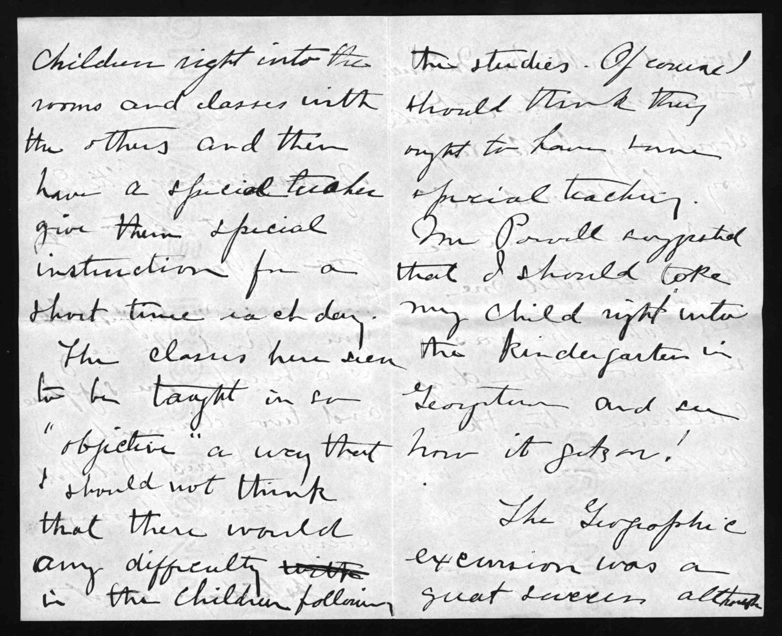 Letter from Elsie Bell Grosvenor, May 11, 1899