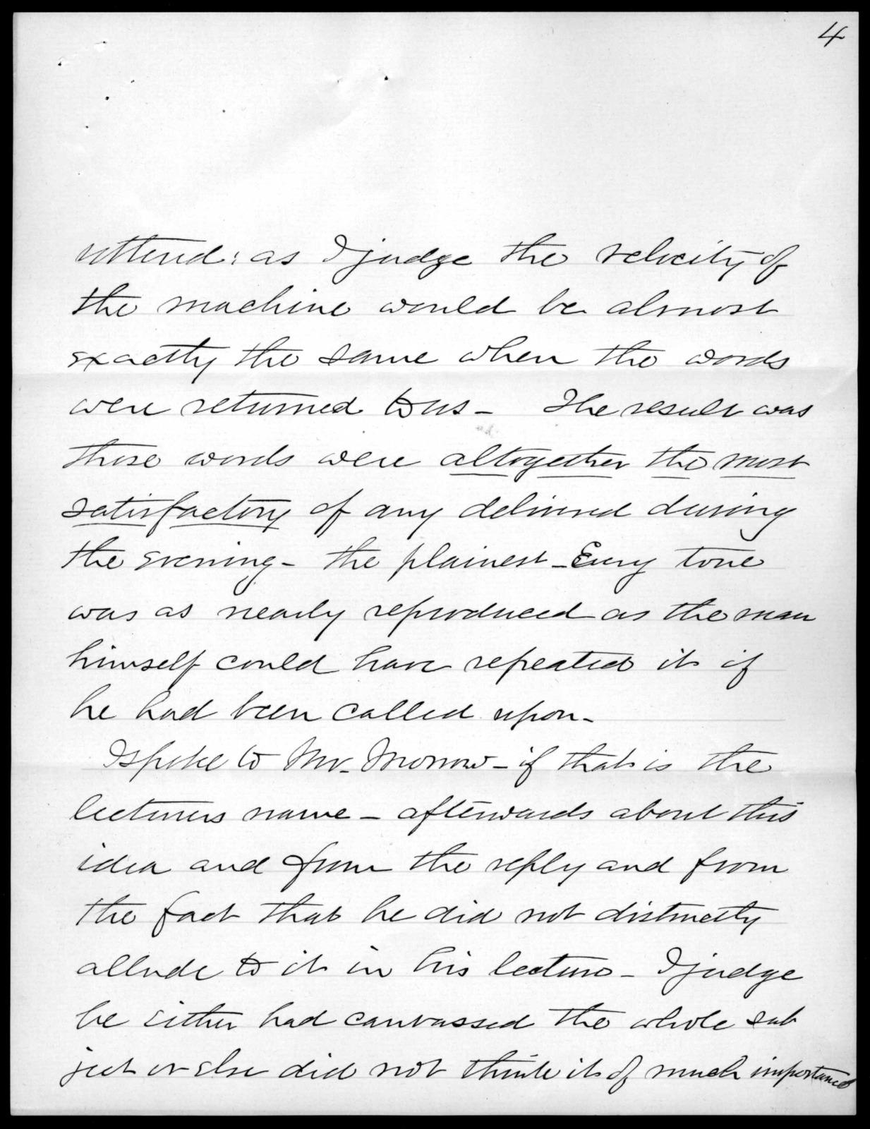 Letter from J. H. Bradford to Alexander Graham Bell, February 1, 1899