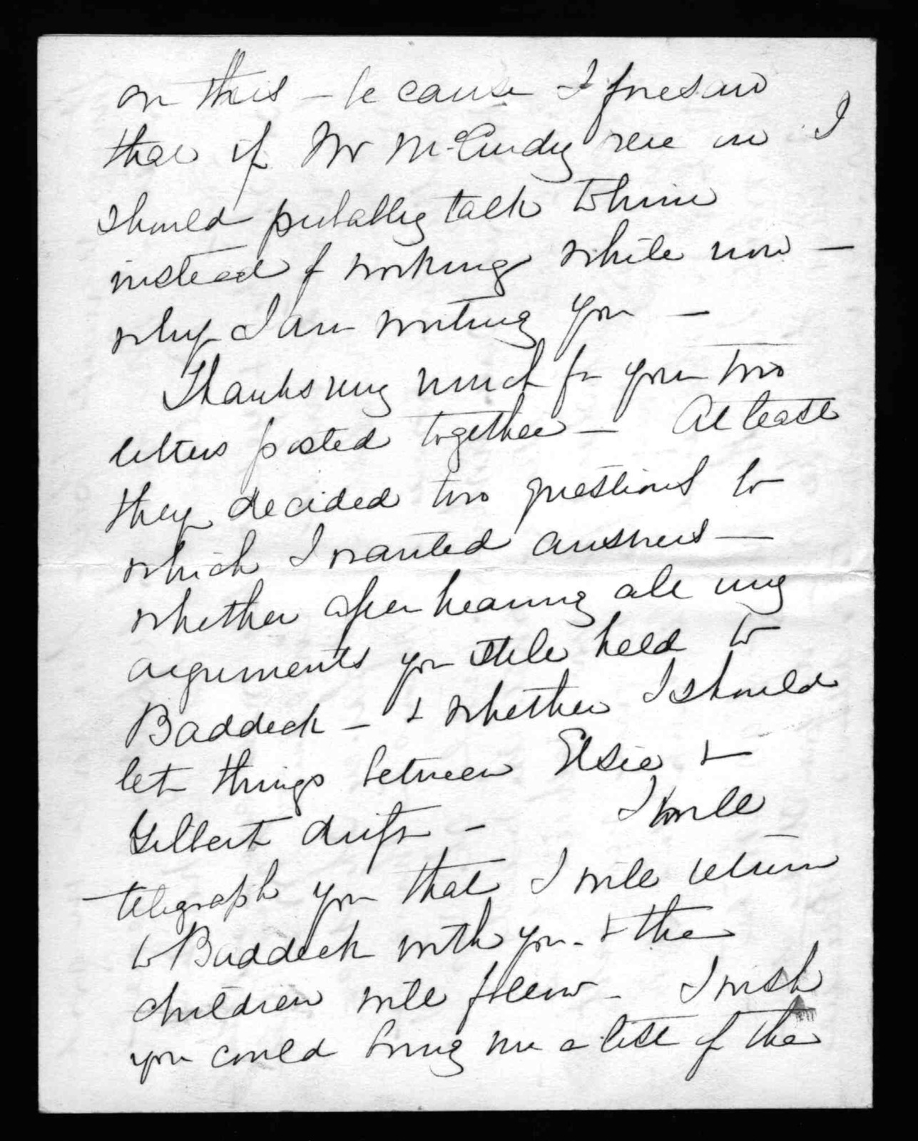 Letter from Mabel Hubbard Bell to Alexander Graham Bell, June 11, 1899