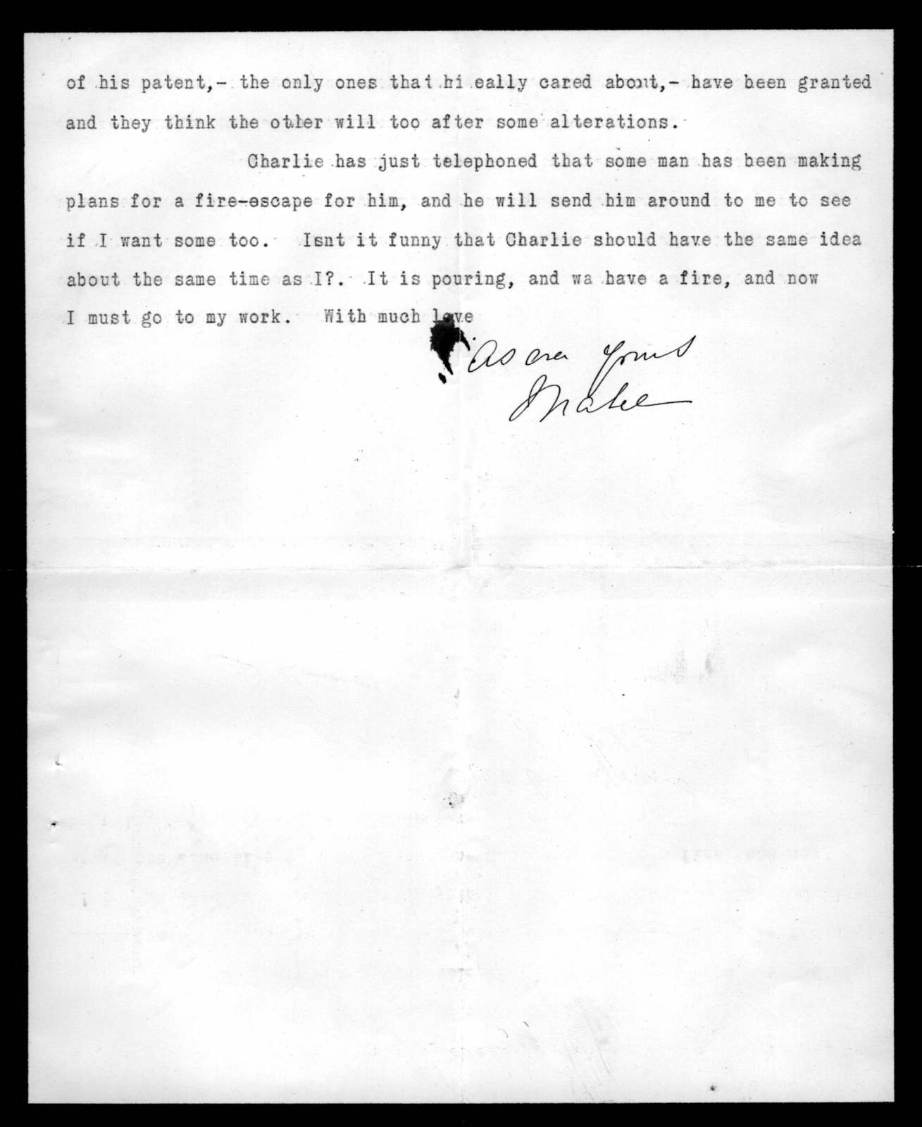 Letter from Mabel Hubbard Bell to Alexander Graham Bell, May 11