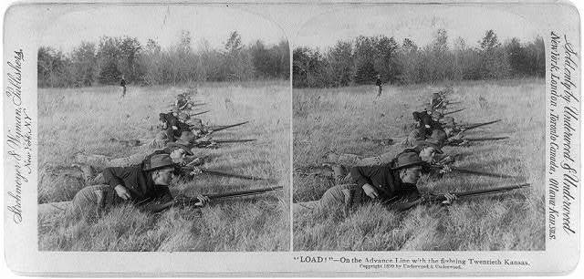 """""""Load!""""--On the advance line with the fighting Twentieth Kansas"""