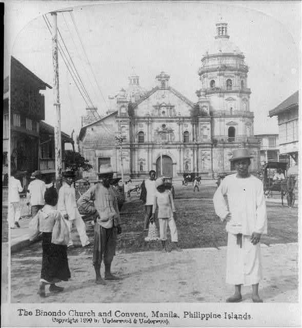 """[Manila, P.I., 1899: """"Binondo Church and Convent""""]"""