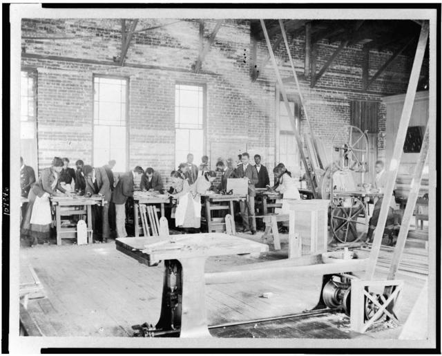[Manual training shop at Claflin University, Orangeburg, S.C.]