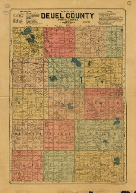 Map of Deuel County, South Dakota : compiled and drawn from a special survey and official records.