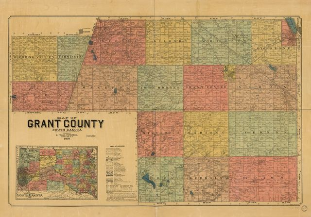Map of Grant County, South Dakota : compiled and drawn from a special survey and official records.