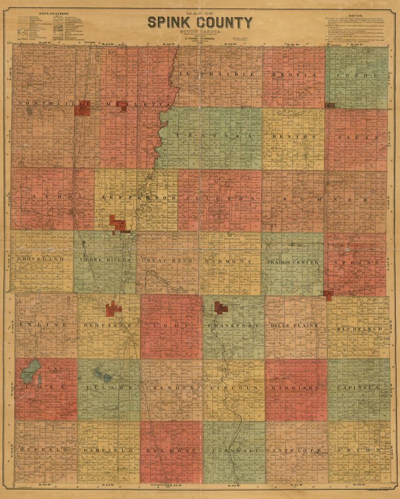 Map of Spink County, South Dakota : compiled and drawn from a special survey and official records.