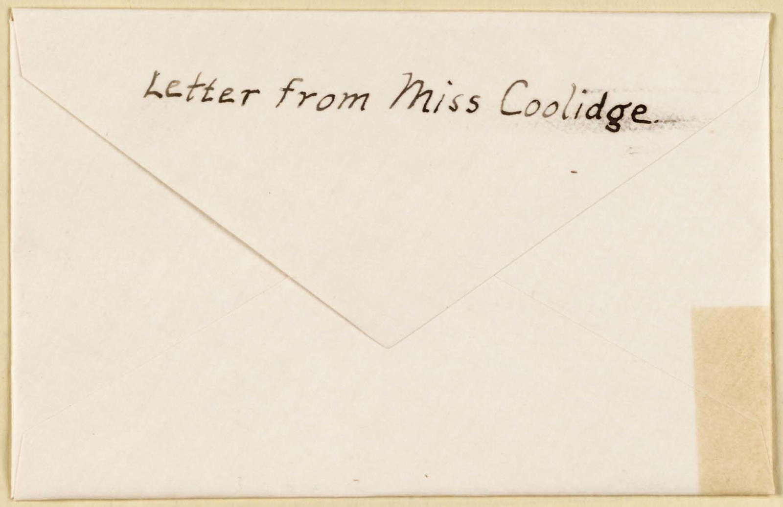 Mary Coolidge to Anne Fitzhugh Miller