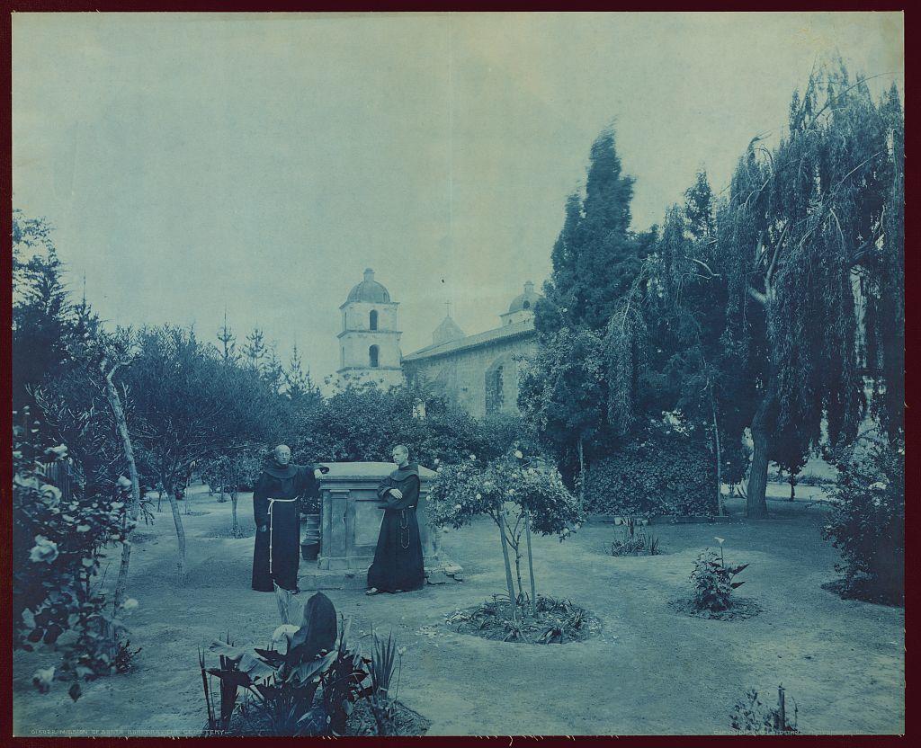 Mission of Santa Barbara, the cemetery