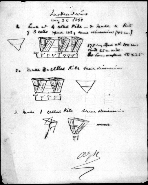 Notes by Alexander Graham Bell, August 30, 1899