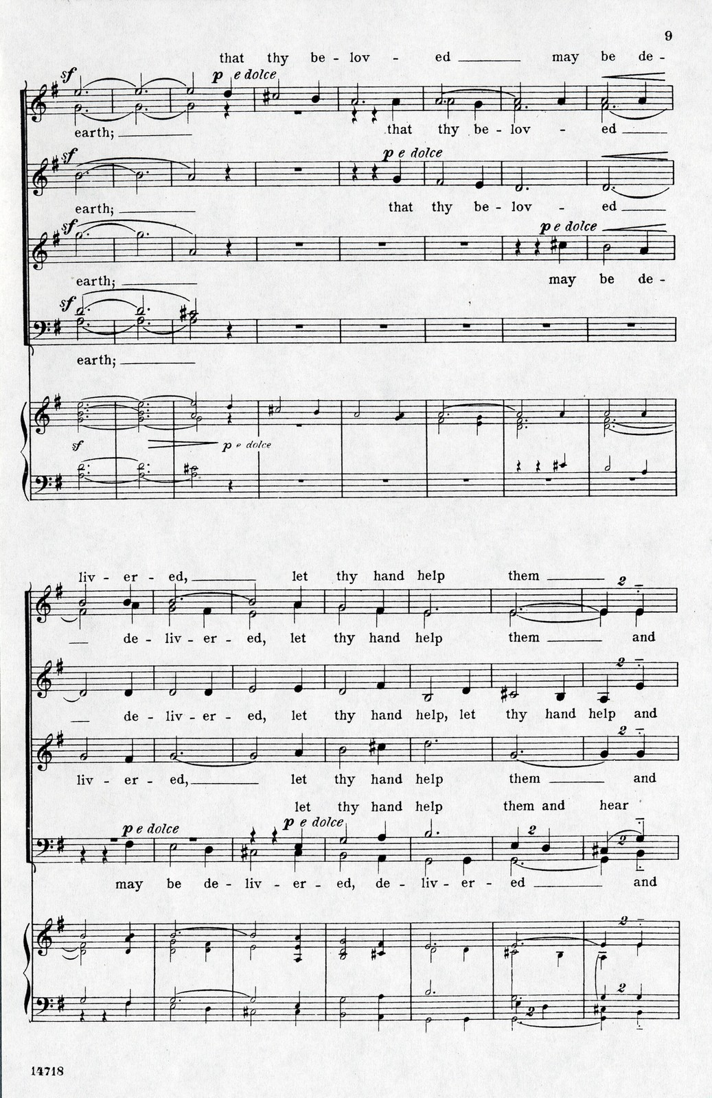 O God, my heart is ready motet for mixed voices a cappella, op. 17