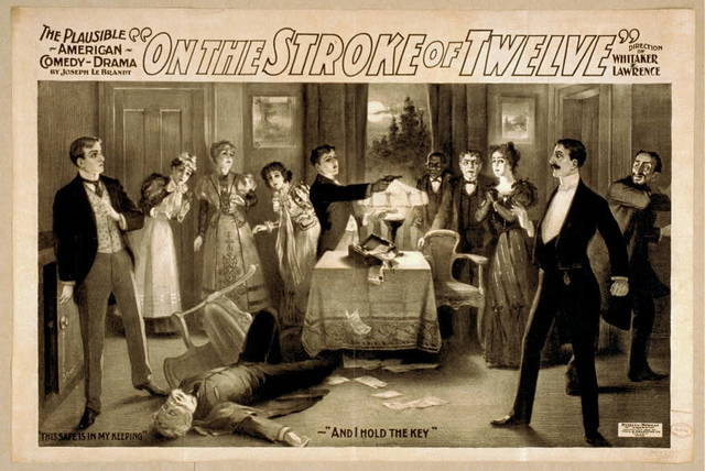 On the stroke of twelve the plausible American comedy drama : by Joseph Le Brandt.