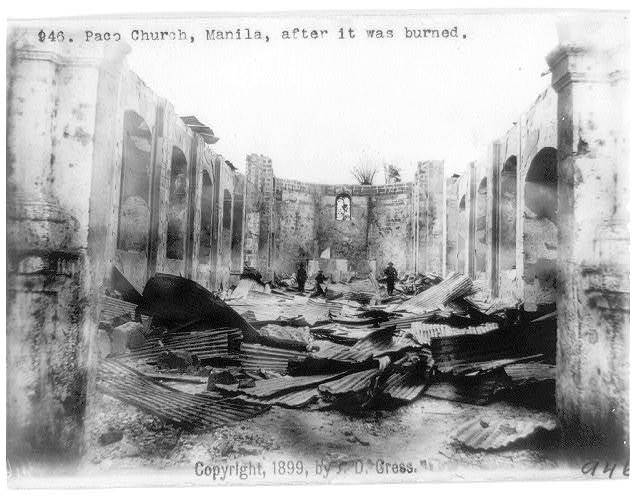 [Philippine Islands]: Paco Church, Manila, after it was burned