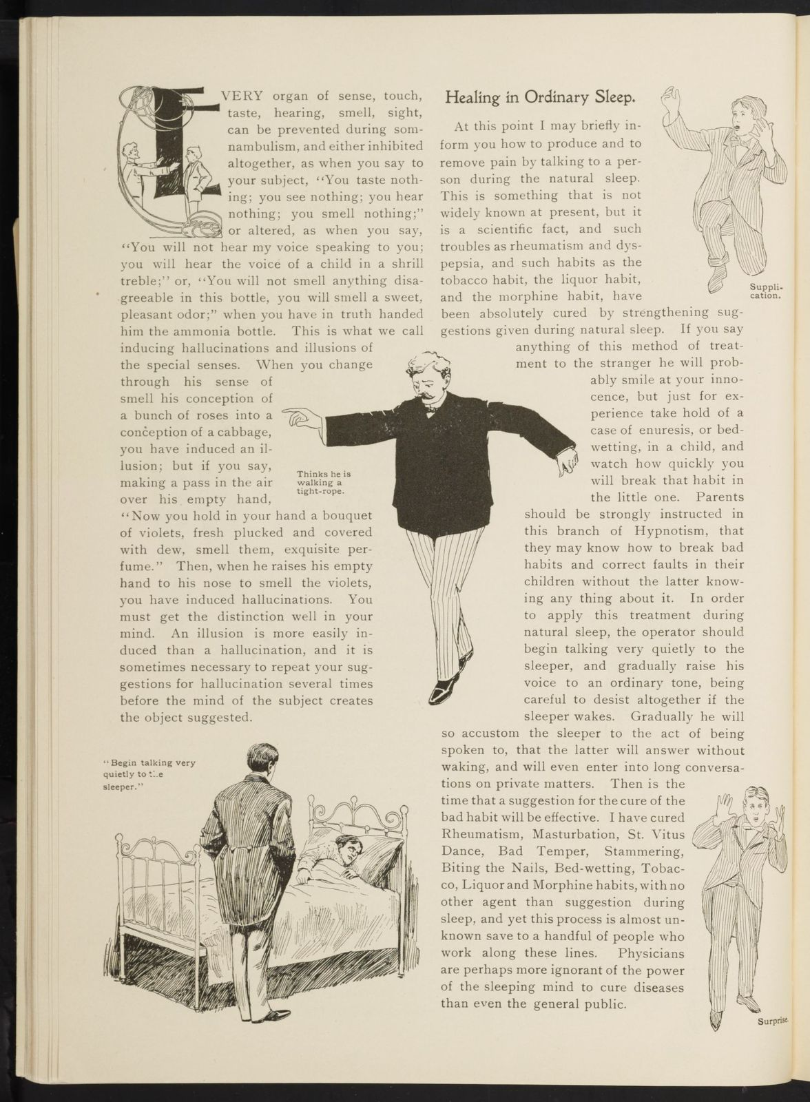 Prof. L.A. Harraden's complete mail course of twenty illustrated lessons in hypnotism.
