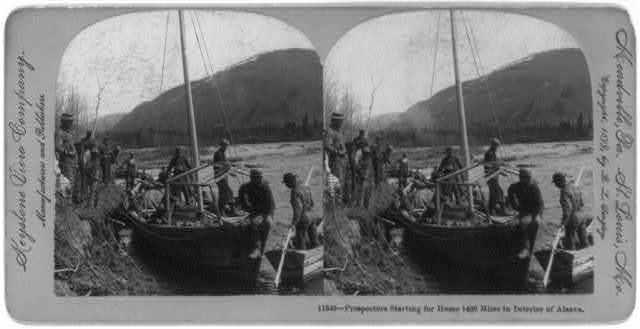 Prospectors starting for home 1400 miles in interior of Alaska