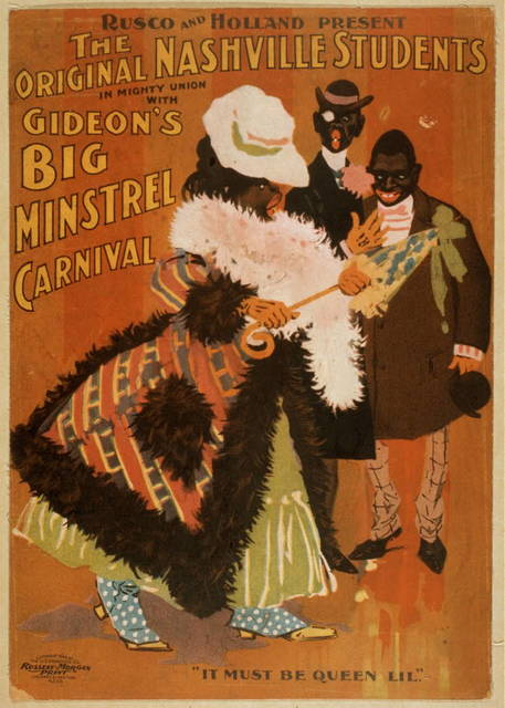 Rusco and Holland present the Original Nashville Students in mighty union with Gideon's Big Minstrel Carnival
