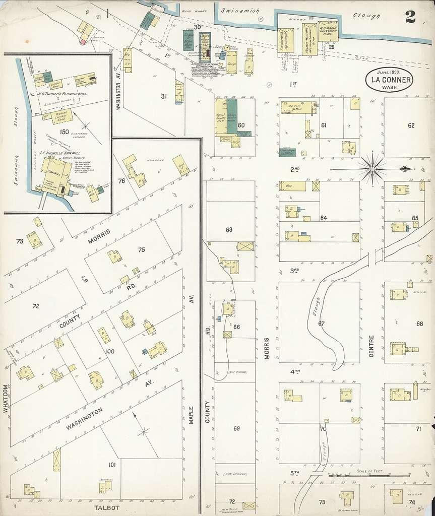 Sanborn Fire Insurance Map from La Conner, Skagit County, Washington - PICRYL Public Domain Image