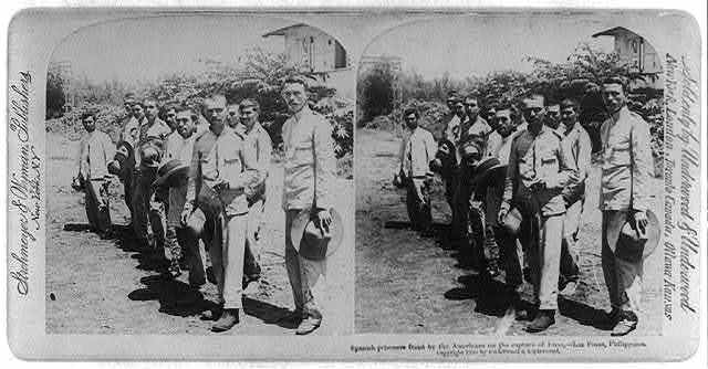 Spanish prisoners freed by the Americans on the capture of Imus - Las Pinas, Philippines