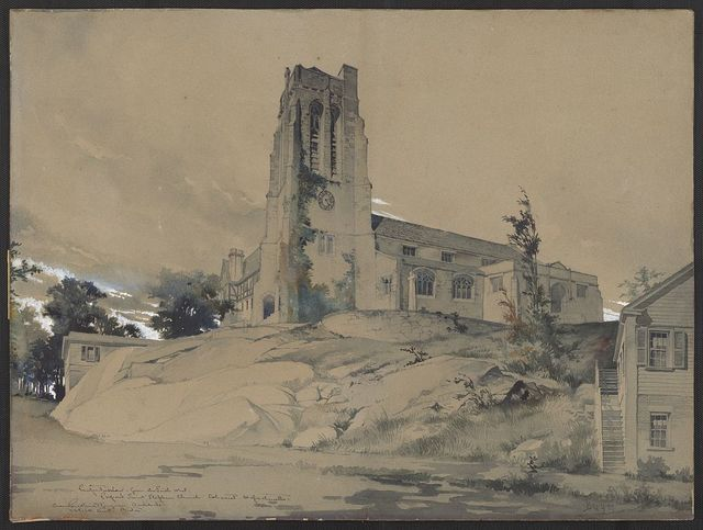 [St. Stephen's Church, Cohasset, Massachusetts. Perspective rendering] / B. G. G. 99.
