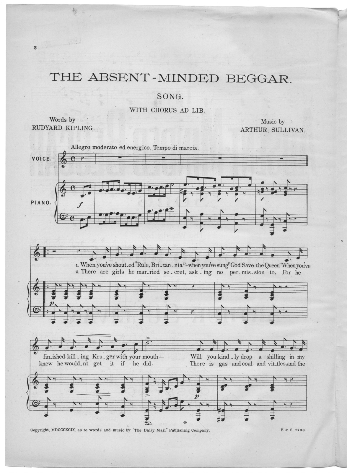 The  absent minded beggar