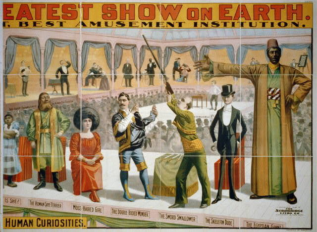 The Barnum & Bailey Greatest Show on Earth ... The Peerless Prodigies of Physical Phenomena & Marvelous Living Human Curiosities