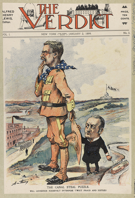 The canal steal puzzle. Will Govenor Roosevelt interpose 'twixt fraud and justice? / Anthony.