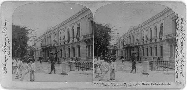 The palace - headquarters of Maj. Gen. Otis, Manila, Philippine Islands