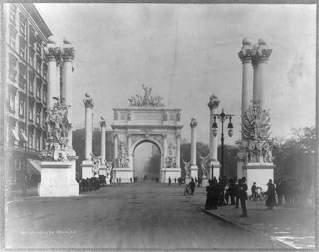 [Triumphal arch celebrating victory of U.S. navy in the Spanish American War]
