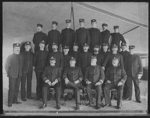 U.S.S. New York, Capt. Chadwick and officers