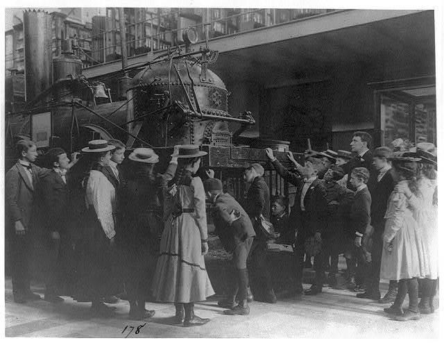 [Viewing locomotive at Smithsonian, Washington, D.C.]