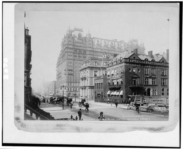 [Waldorf-Astoria, 5th Ave. south from 35th St., New York City] / J.S. Johnston, view & marine photo, N.Y.