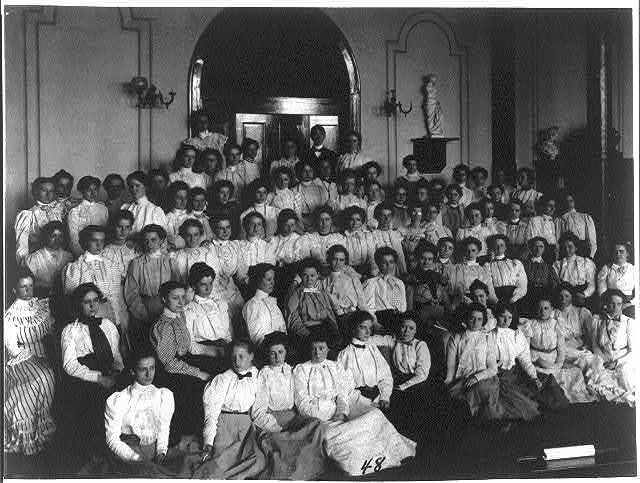 [Washington, D.C. public schools - large group of Normal School students (girls)]